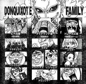 Jerarquía de la Familia Donquixote