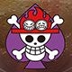 Spade Pirates' Jolly Roger METAL
