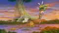 Forêt de le Baleine vu du ciel Anime