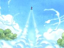 Gedatsu voando com seus dial