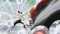 Luffy Using Jet Gatling on Lucci