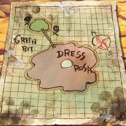 La mappa di Dressrosa e Green Bit fatta da Bepo