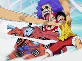 Gyojin Karate Death Gomu Gomu no Gosenmaigawara Seiken Wink Bazooka