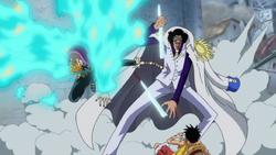 Marco attacca Kuzan