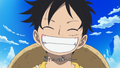One day Luffy sourit