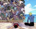 Pandaman sur le bateau de Gin