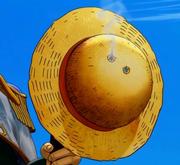 Chapeau de Paille transpercé par deux balles