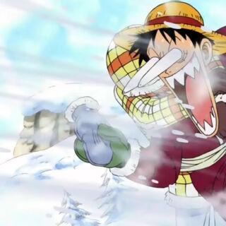 Luffy hat nur Sanjis Handschuh erwischt.