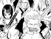 Smoker and Subordinates Arrive at Marineford