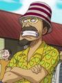 Woop Slap durante la partida de Luffy