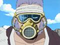 Don Krieg con su máscara antigas