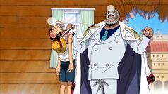 Luffy y garp