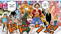Mugiwaras vs Hody manga