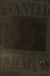 Shiki Wanted Poster
