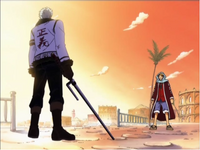 Smoker decides to let Luffy and his crew escape