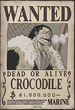 Crocodile's First Wanted Poster
