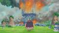 Sauro regarde l'arbre brûler