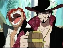 Shanks et Mihawk fête prime Luffy