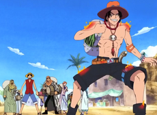 Straw Hats Saved By Ace in Alabasta