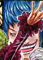 Blue Gilly coloré dans le manga