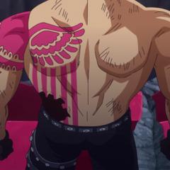 Il tatuaggio sulla sua schiena