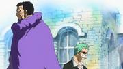Première rencontre entre Zoro et Fujitora