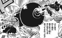 Luffy Attacks Yamato