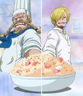Sanji et Zeff cuisinent