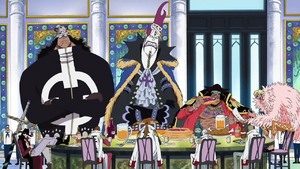 Five Shichibukai at Marineford