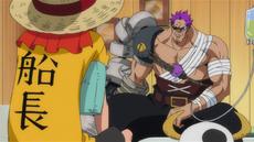 Luffy conoce a Zephyr