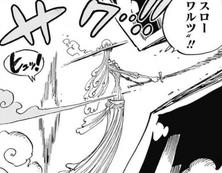 Amande ataca a Luffy