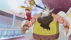 Luffy derrota a Cabaletta