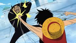 Luffy vs Blueno