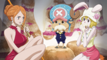 Nami, Chopper, and Carrot Hide in Wedding Cake