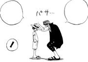 Shanks gibt Luffy den Strohhut