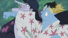 Jinbe golpea a Arlong