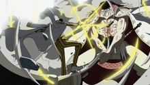 Kizaru attacks Whitebeard