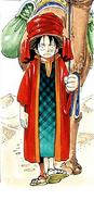 Rozdział 160 Luffy w pustynnym stroju z turbanem na głowie