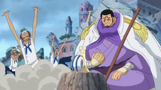 Sakazuki discute con Issho