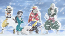 Straw Hats Freezing on Punk Hazard