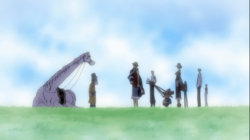 Luffy gives the flag