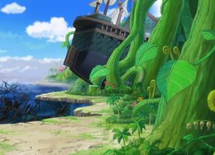 Barco encallado en Green Bit