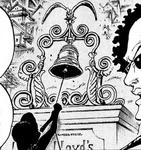 Luffy Membunyikan Ox Bell dalam Manga