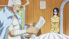Smoker leyendo el periódico