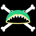 Equipage des Fanged Toad Jolly Roger