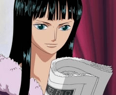 Robin Leyendo mensaje de Luffy
