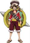 Vestimenta de Luffy en la Película 14