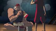 Diego paint la statue de Luffy