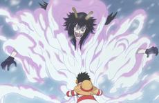 Luffy agarra a Caesar