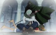 Dragon sauve Luffy de Smoker